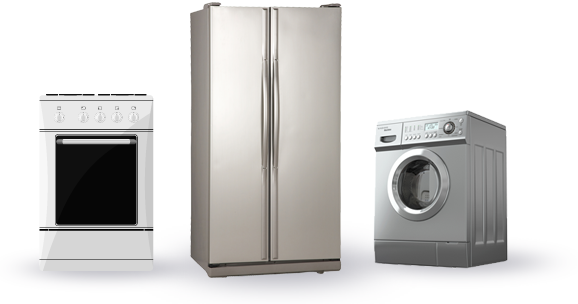 Oven, Refrigerator, Stove, Washing Machine, Dryer